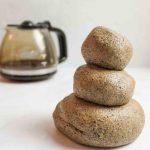 stacked balls of coffee playdough