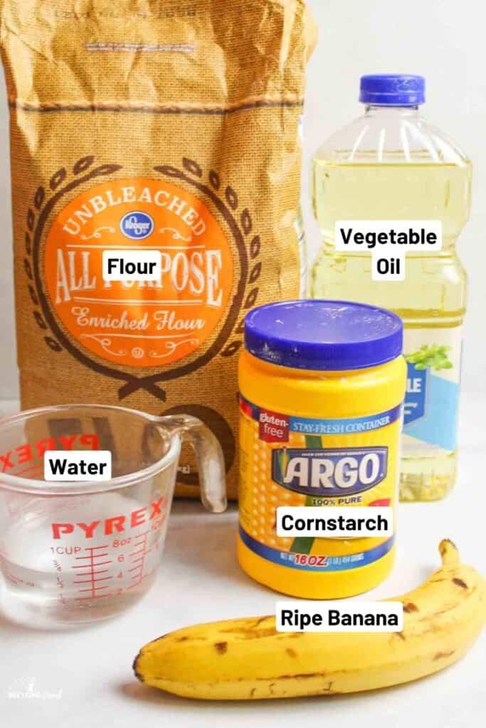 ingredients for ripe banana playdough