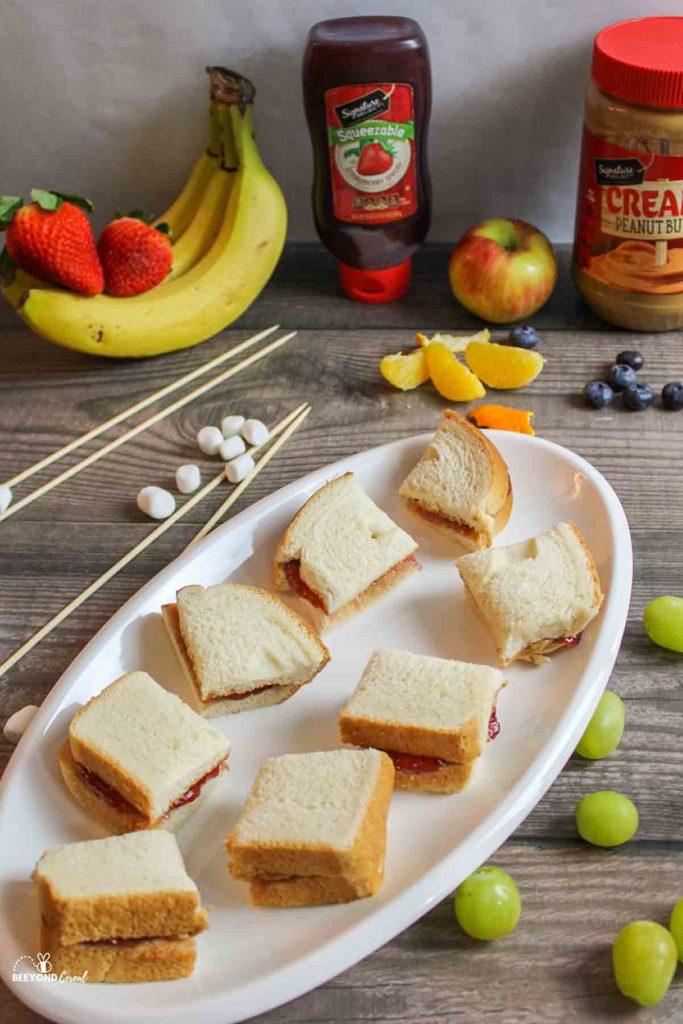 ingredients needed for pbj skewers