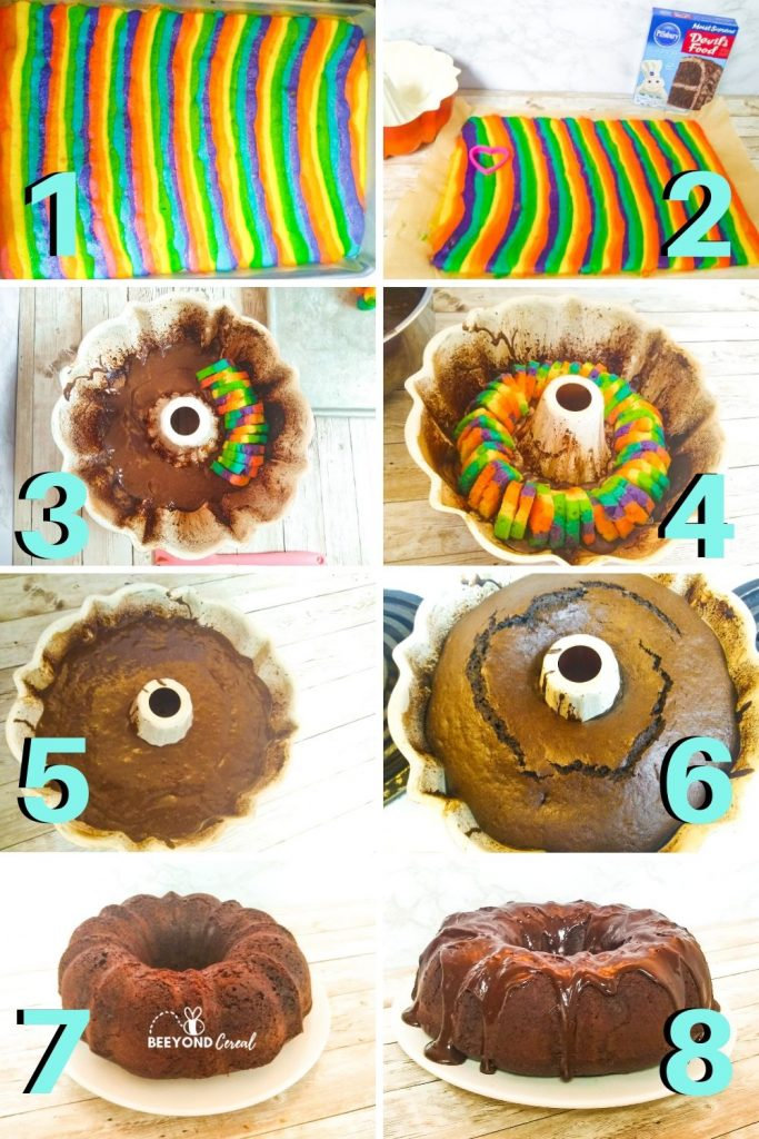 the steps neded to make this bundt cake
