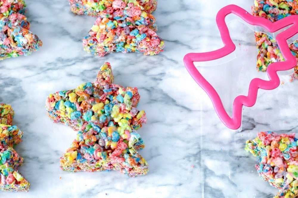 fruity pebble unicorn treats