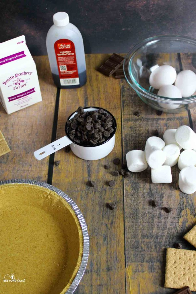 ingredients needed for smores pie