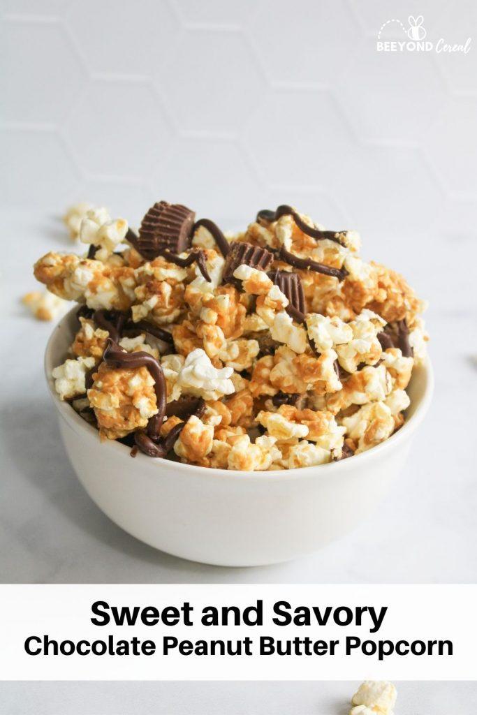 sweet and savory chocolate peanut butter popcorn