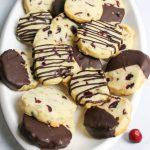 cranberry pecan shortbread cookies
