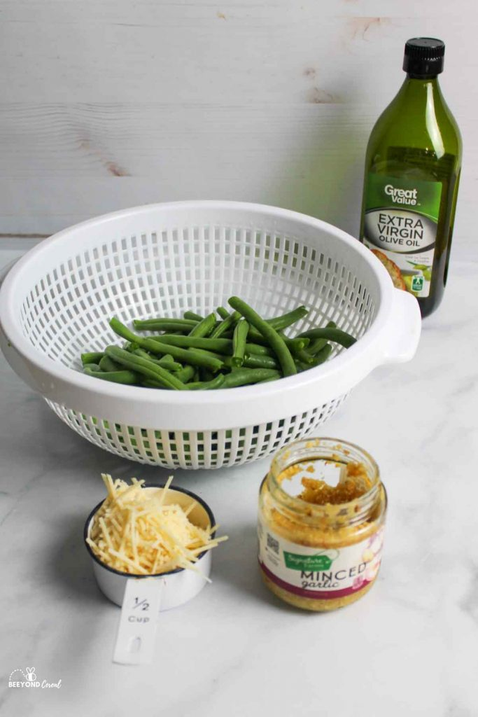 ingredients needed for garlic parm green beans