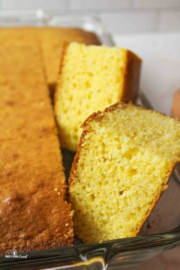 areial view of a lot of cornbread muffins and cake
