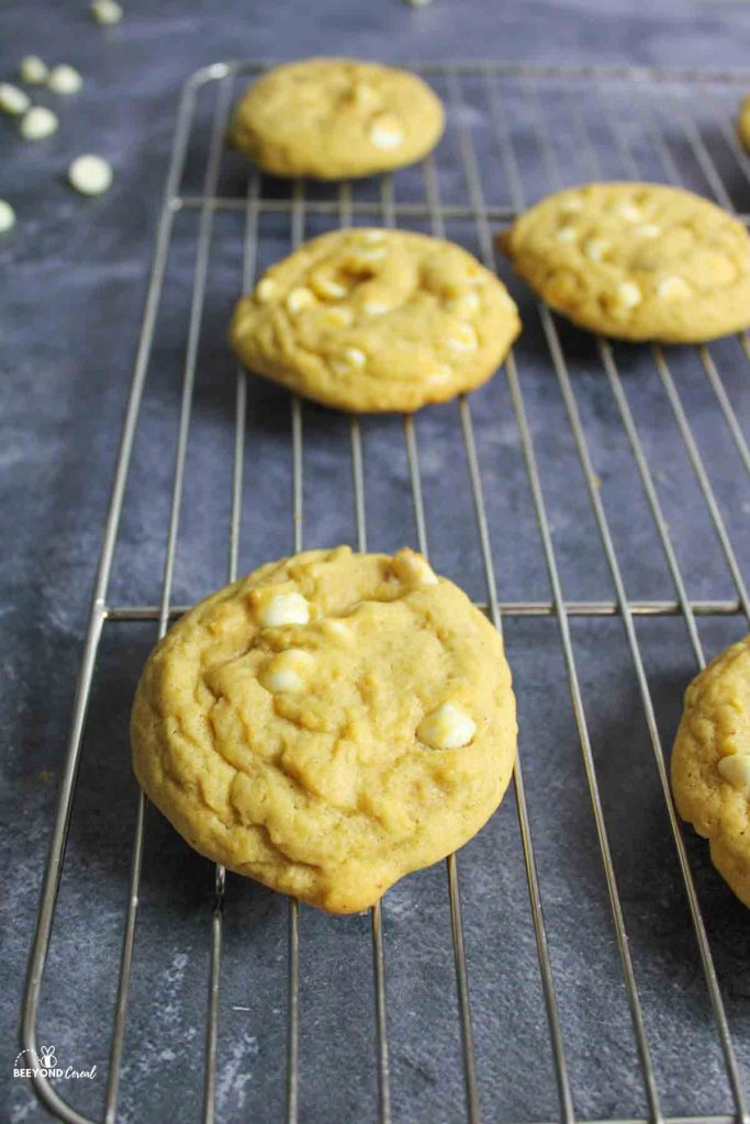 baked cookies on wire rack