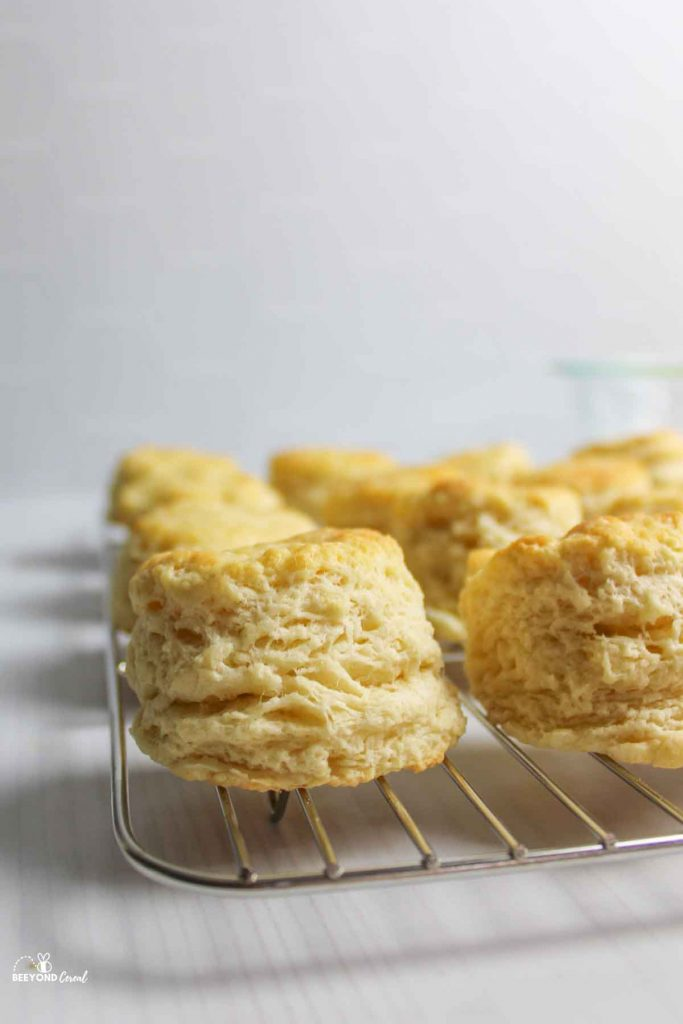 biscuits on a wire cooling rack
