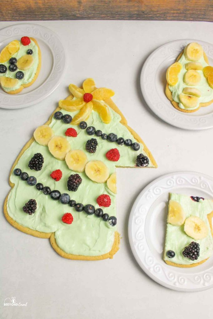 serving up the yummy fruit pizza trees