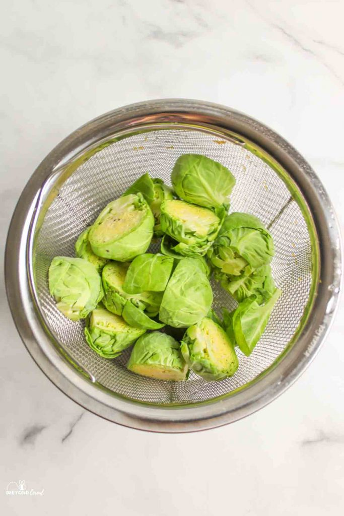 brussel sprouts and water in instant pot