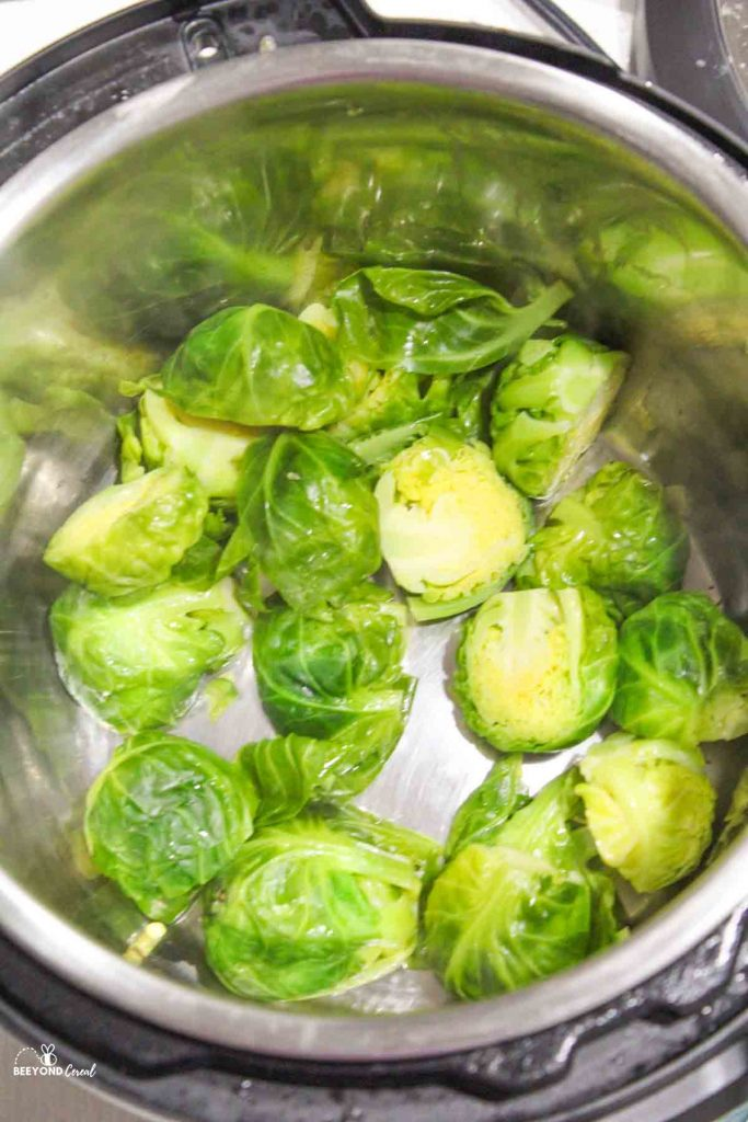 cooked brussel sprouts in instant pot