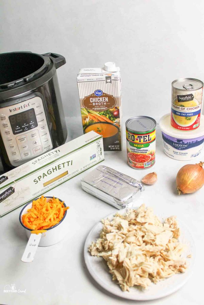 ingredients needed for instant pot chicken spaghetti