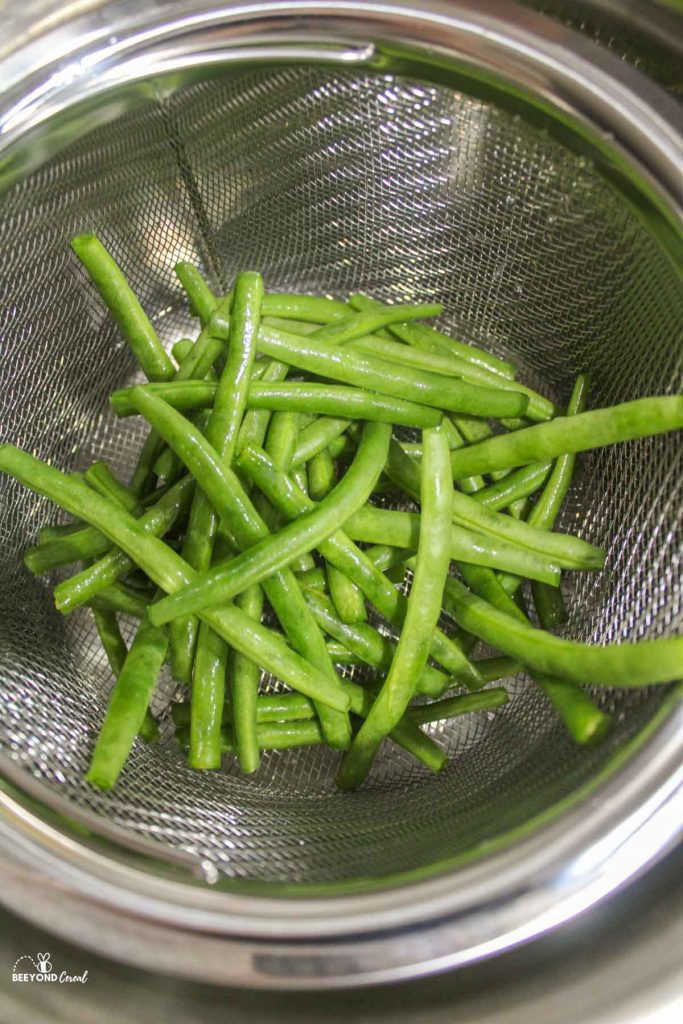 washed green beans in instant pot steam basket