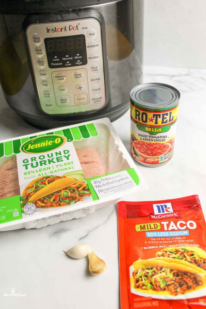 ingredients needed for instant pot turkey taco meat