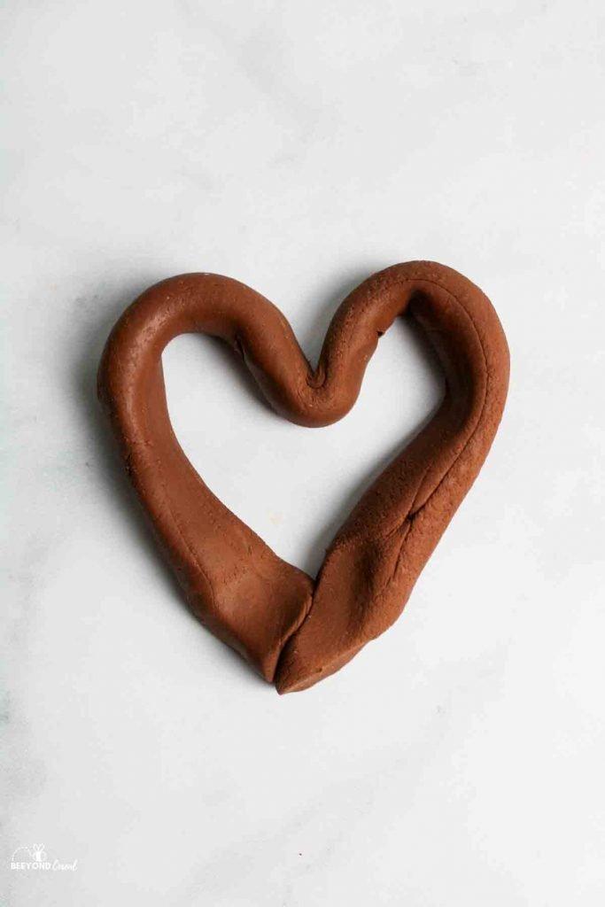a pudding playdough heart