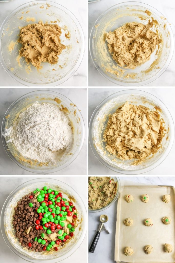 a collage showing how to make santas favorite cookies
