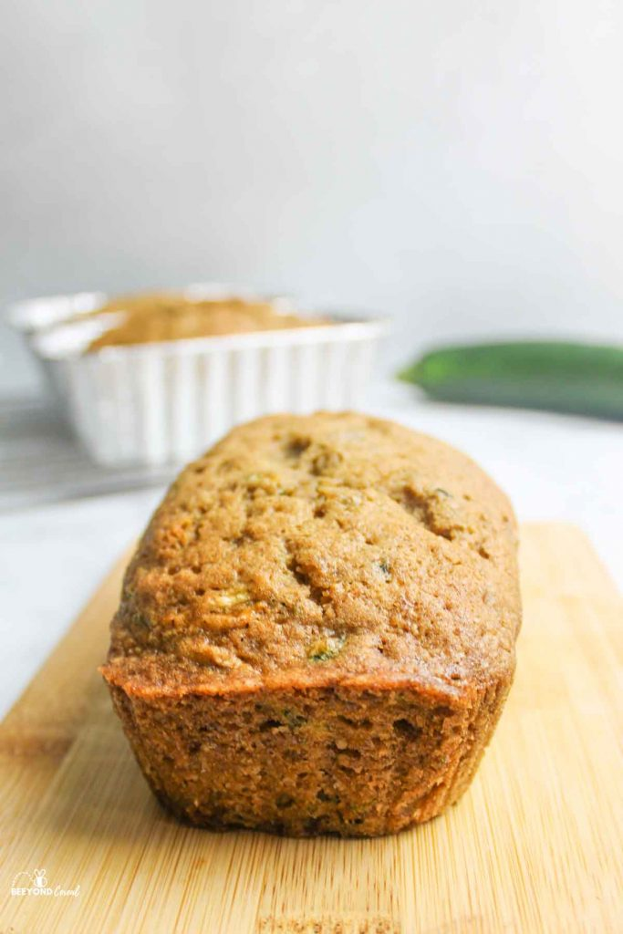 zucchini bread mini loaf removed from pan