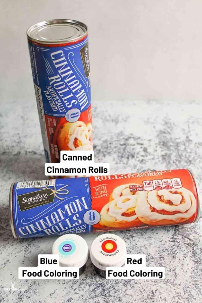 ingredients needed for cinnamon roll intestines