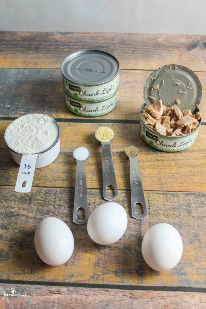 ingredients needed for tuna patties