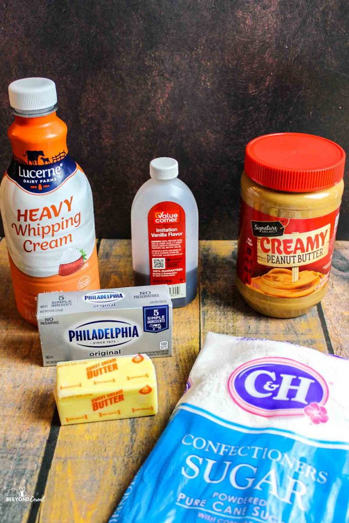 ingredients needed for peanut butter cream cheese frosting