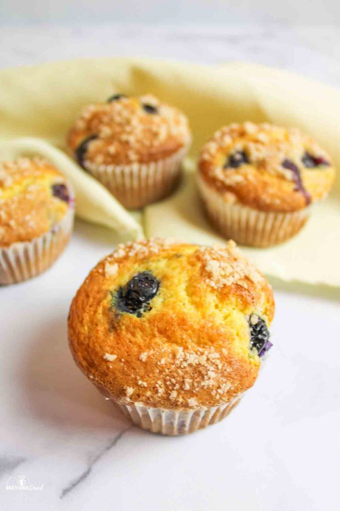 4 blueberry cake mix muffins