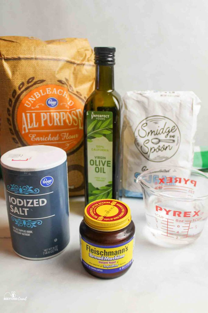 ingredients needed for no rise pizza dough