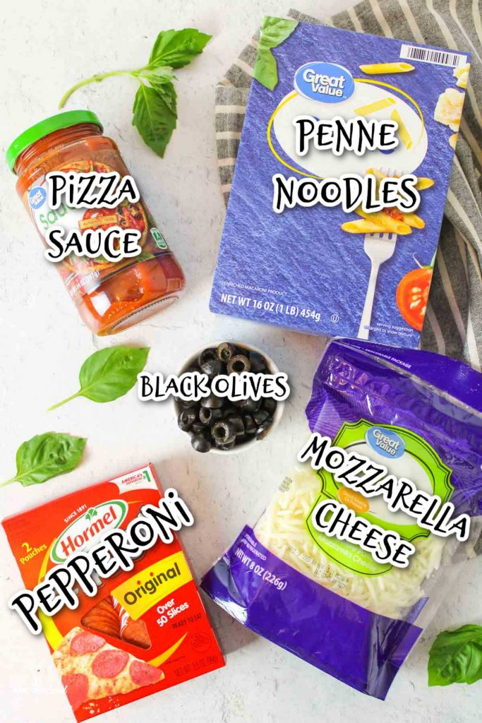 ingredients needed to make pizza pasta