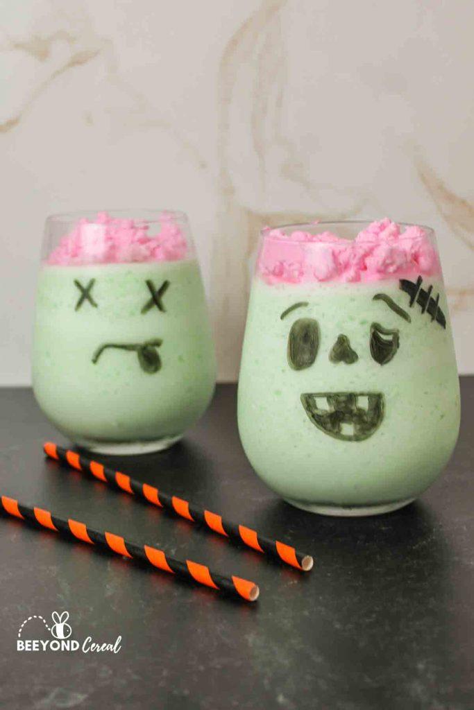 two zombie drinks net to two straws