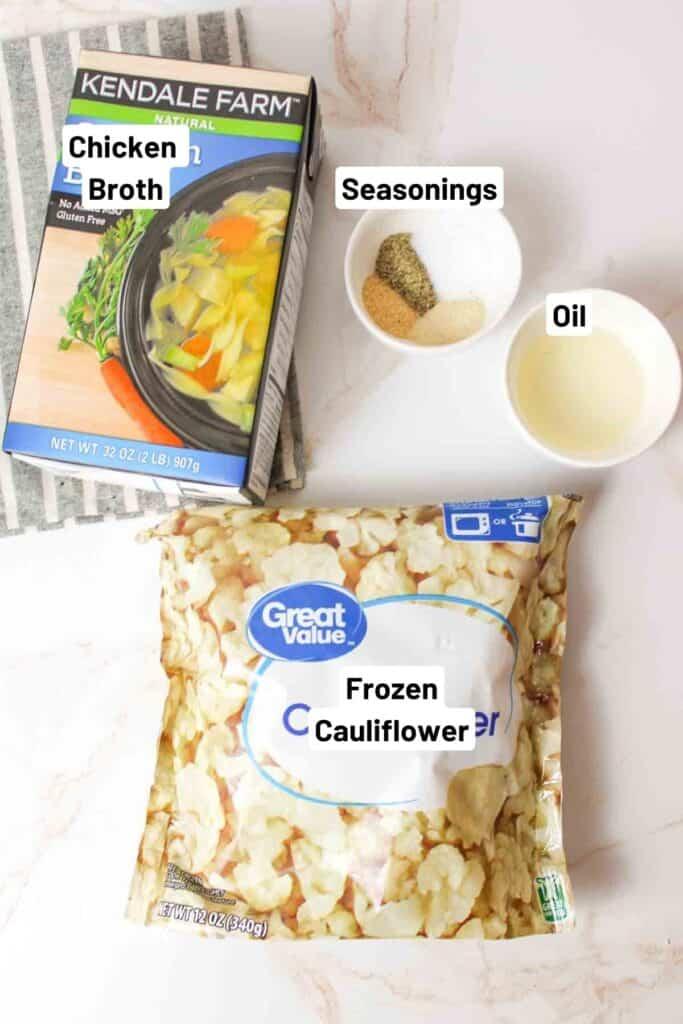 ingredients needed to make roasted frozen cauliflower