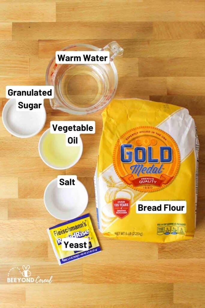 ingredients needed to make vegan slider buns