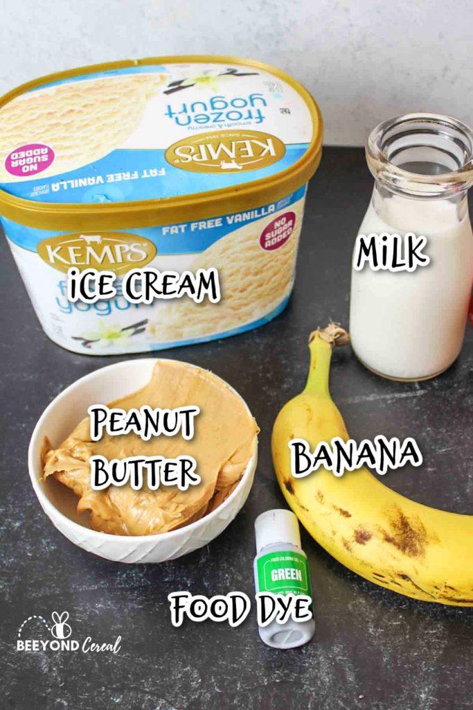 ingredients needed to make zombie milkshakes