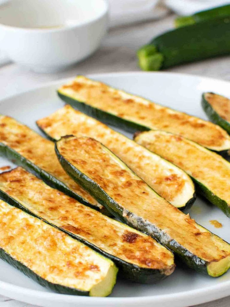 roasted zucchini on a plate